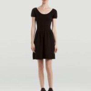Sandro Black Rebus Textured Knit Dress
